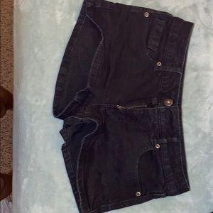 Black wash jeans shorts